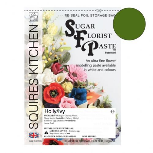 Sugar Florist Paste - Holly/Ivy 100g.